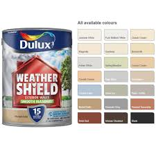 Details About Dulux Weathershield Smooth Masonry Paint 5l