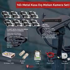 METAL KASA 16'LI GÜVENLİK KAMERASI SETİ - Elektrik ve Elektronik Market
