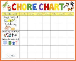 Free Printable Toddler Chore Chart Preschool Chore Chart