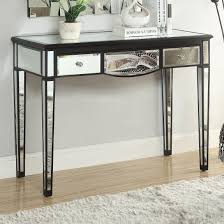 traditional bedroom transitional console table accent tables black with mirror accents ugalleryfurniture white sofa modern style round foyer dining room