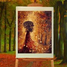 umbrella girl frameless diy oil painting by numbers handpainted canvas home wall art decor 40x50cm