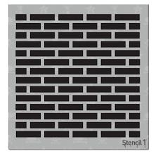 stencil1 bricks small repeat pattern stencil