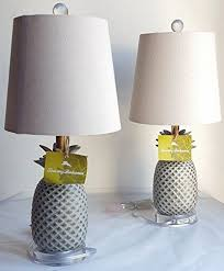 tommy bahama lighting 2 tommy bahama 20 pineapple fruit table lamps with natural linen shades tommy
