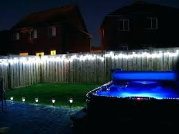 led outdoor lighting ideas. Led Fence Lights Lighting Ideas String Along Your For Backyard Be Careful Of . Outdoor