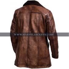 mens x men wolverine jacket distressed brown fur