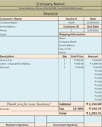 Service Invoice Template Excel Custom Download Invoice Bill Excel Template ExcelDataPro