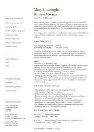 Manager Resume Template Management Cv Managers Jobs Director Project