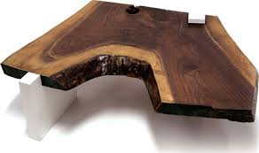sentient live edge coffee table with