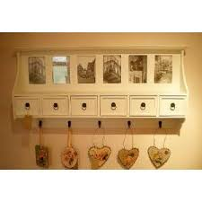 Shabby Chic Coat Rack White Shabby Chic Hallway Coat Rack Unit with Drawers Photo 5