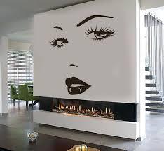 black bear wall decals eyes wall sticker vinyl decal beauty salon woman  face lips girl eyes . black bear wall decals ...