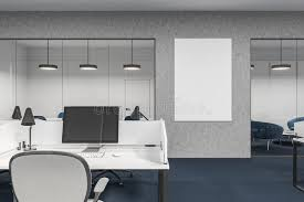 image image office cubicle. Download Concrete And White Office Cubicles, Poster Stock Illustration - Of Desk, Monitor Image Cubicle
