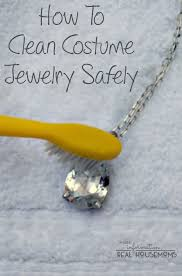 how to clean costume jewelry real