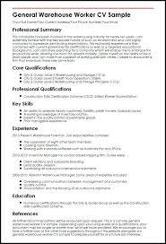 Sample Resume Of Warehouse Worker Topshoppingnetwork Com