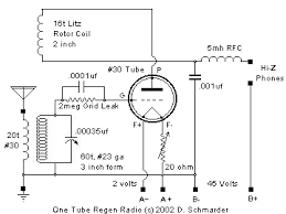 one tube radio schematic crystal radio 2 radios welcome to dave s homemade tube radio schematic selector page here you can see all on 2 pages all my crystal radio circuit diagrams