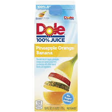dole pineapple orange banana 100 juice
