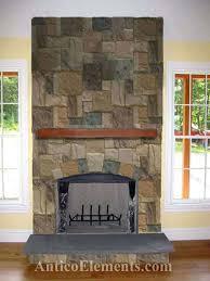 fake fireplace rock sand color faux cast stone fireplace mantels