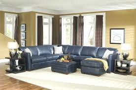 navy leather reclining sectional