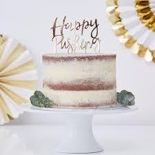 Happy Pushing Gold Cake Topper Oh Baby Uk Wedding Favours