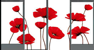 red poppy wall art red poppies white panel canvas wall art inch