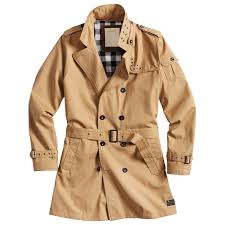 surplus classic military style mens trench coat cotton