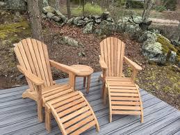 teak adirondack chairs. Teak Adirondack Chairs And Ottomans Lake - Customer Photo Goldenteak