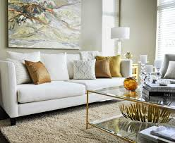 modern living room with white sofa. twenty one two - contemporary living room with white modern sofa, copper pillows, beige sofa r