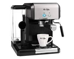 Coffee machine sits at a comfortable intersection where ease of use, automation, and affordability meet. Mr Coffee Cafe Steam Espresso Machine Brew Coffee Maker