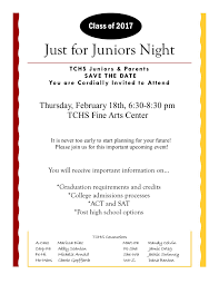 just for juniors night set for feb timber creek talon timber creek counselors will host the just for juniors night for the class of 2017 on feb 18 2016