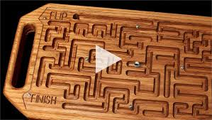 Wooden Maze Game With Ball Bearing Fascinating Wooden Game Maze Puzzle With Steel Ball Bearing CNC Project Using