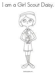 Small Picture I am a Girl Scout Daisy Coloring Page Twisty Noodle