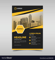 Business Flyer Design Templates Black And Yellow Business Flyer Design Template