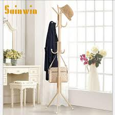 Coat Bag Rack Sainwin 100pcs Metal hanger bedroom coat and hat stand hangers clothes 65