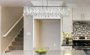 linear dining room lighting. Broadway Linear Crystal Chandelier | Dining Room Lighting