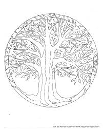 Small Picture Tree On Coloring Pages For Adults Little Funny Cats By Miwah To
