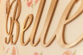 custom wood wall letters