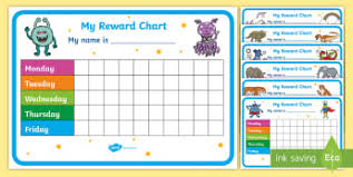 Printable Reward Charts For Teachers Reward Charts