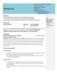 contract compliance resume deepak resume