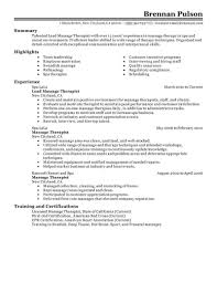Massage Resume Examples Best Lead Massage Therapist Resume Example LiveCareer 9