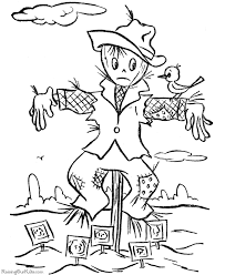 Small Picture Halloween Scarecrow Coloring Pages