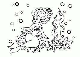 Mewarnai gambar putri duyung tumbuhan laut contoh anak