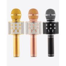 Mic Hát Karaoke Kiêm Loa Bluetooth WS 858