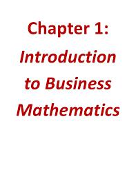 business math business math