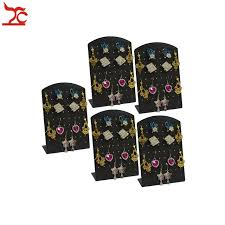 Earring Display Stands Wholesale Wholesale 100Pcs Black Acrylic 100Pairs Fashion Earrings Display 71