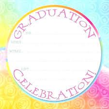 Good Blank Graduation Invitation Templates For Best Ideas On