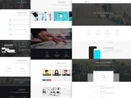 One Page Website Template Magnificent Free PSD Website Templates Available For Download