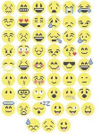 Emoji Perler Bead Patterns Delectable Emoji Cross StitchPerler Bead Pattern By LBCraftsUK On Etsy Diy's