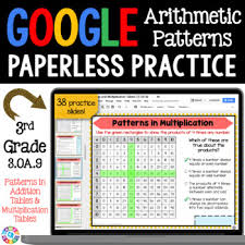 3rd Grade Arithmetic Patterns In Addition Multiplication Tables 3 Oa 9 Google