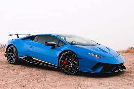 Blu Lamborghini Huracan Performante With Vfengineering Supercharger 1016industries Forged Carbon Sports Cars Lamborghini Lamborghini Huracan Sports Car