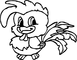 Chicken Baby Farm Animal Coloring Page Wecoloringpagecom