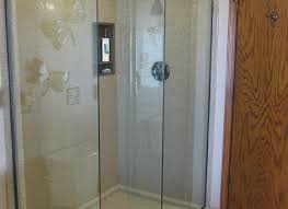 county round doors wall shower modern kits seal aqua frameless kit corner kitsap depot door enclosures
